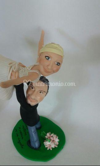 Caricatura sposi ballerini