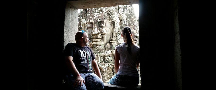 Volti sorridenti in Cambogia