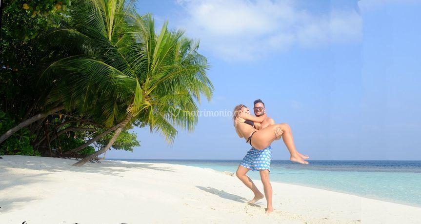 Spiagge bianchissime Maldive