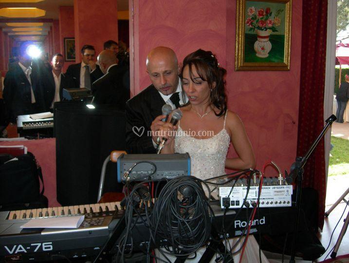 La sposa si esibisce