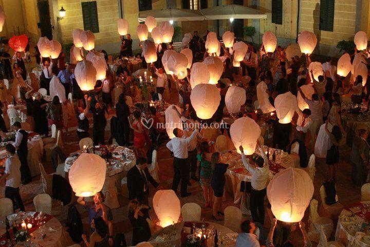 Lanterne volanti matrimonio