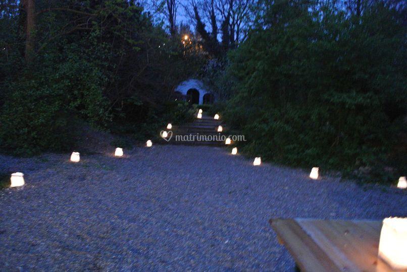Sacchetti portacandele candele