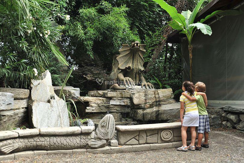 Fontana dei dinosauri