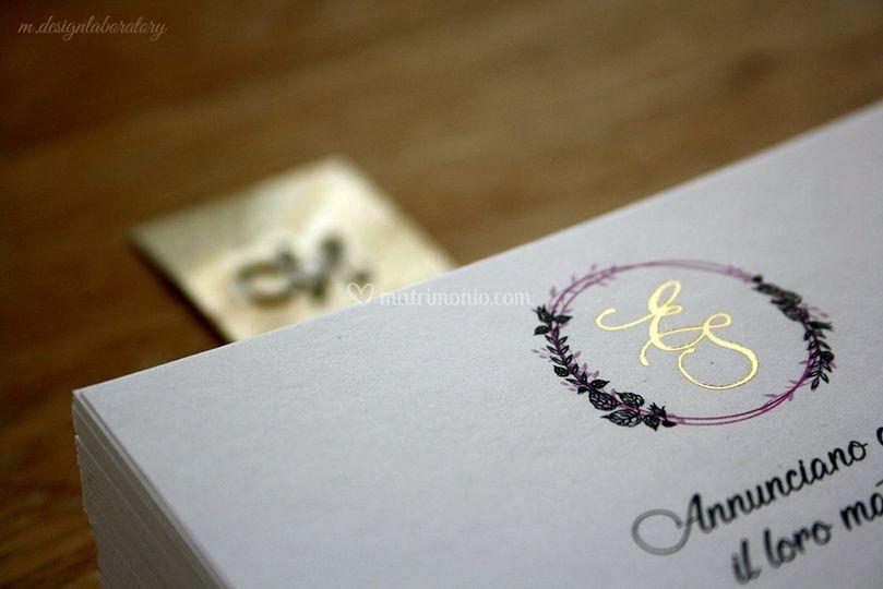 Letter press a caldo oro