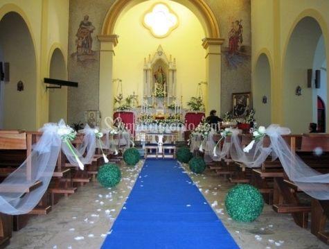 Addobbo chiesa per matrimonio