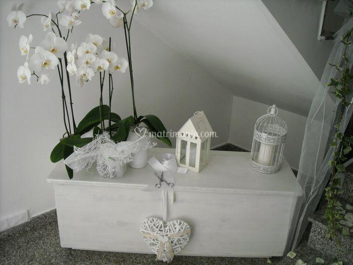 Elegant addobbo su banco mensa addobbo in casa della sposa with addobbi matrimonio casa - Addobbi matrimonio casa della sposa ...