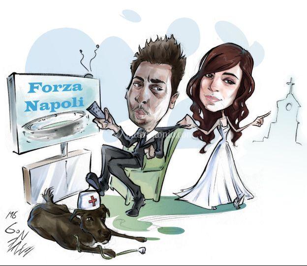 39b4dae3a02c Caricaturista Gennaro Varriale Gonzalez Forza Napoli