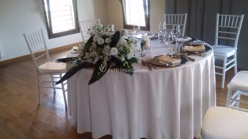 Tavolo degli sposi in Villa