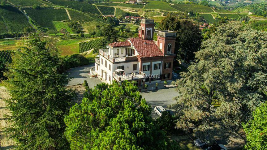 Villa Cornarea dall'alto
