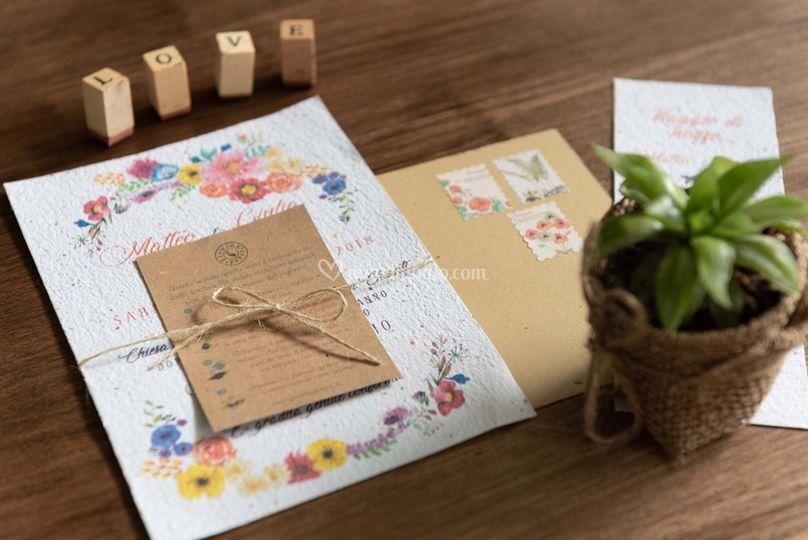 Carta piantabile growing paper