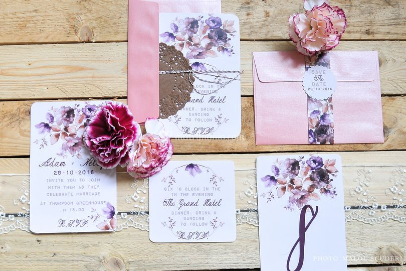 Wedding Stationary Rose