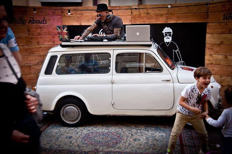 Fiat 500 dj booth