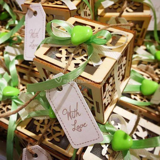 Verde lime e legno