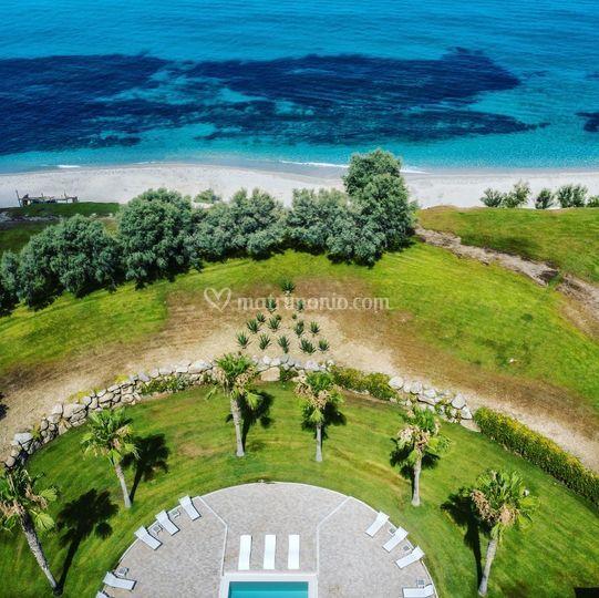 Spa drone view
