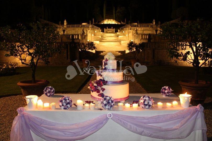 Wedding Cake Farfalle Lilla