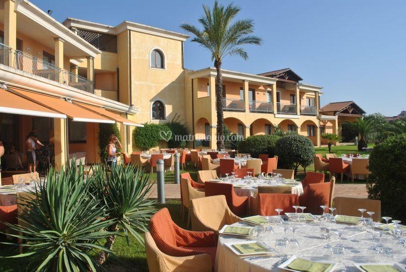 Garden front of hotel