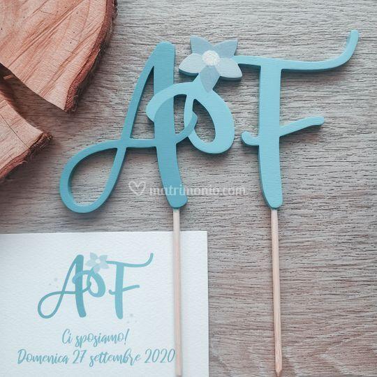 AF: logo + cake topper