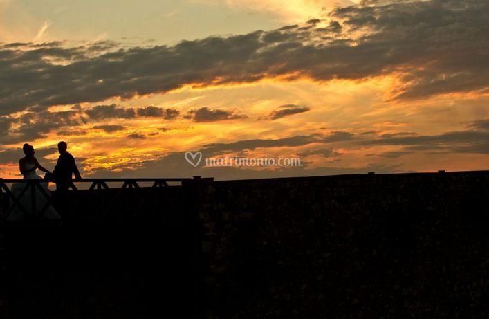La coppia al tramonto