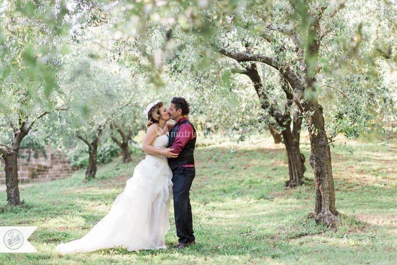 Gli sposi nel parco