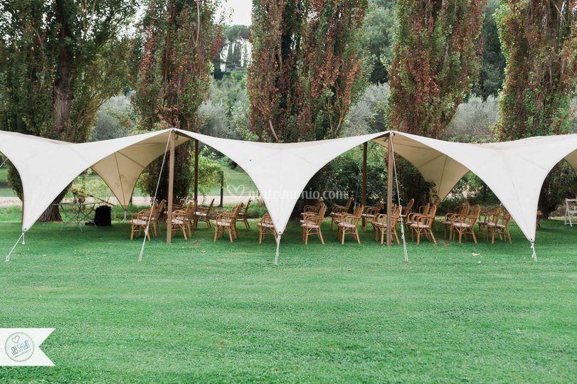Rito civile sotto la tenda