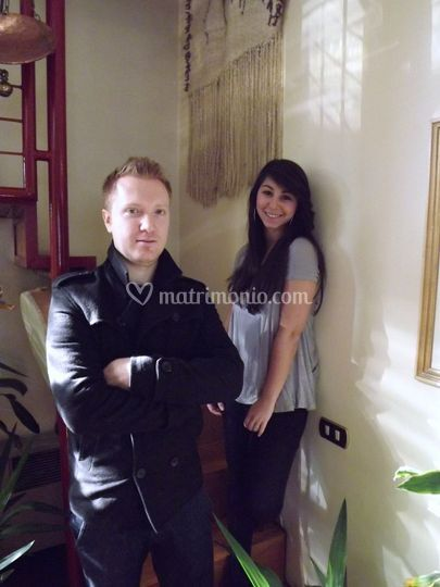 David c. con Cate lo singer