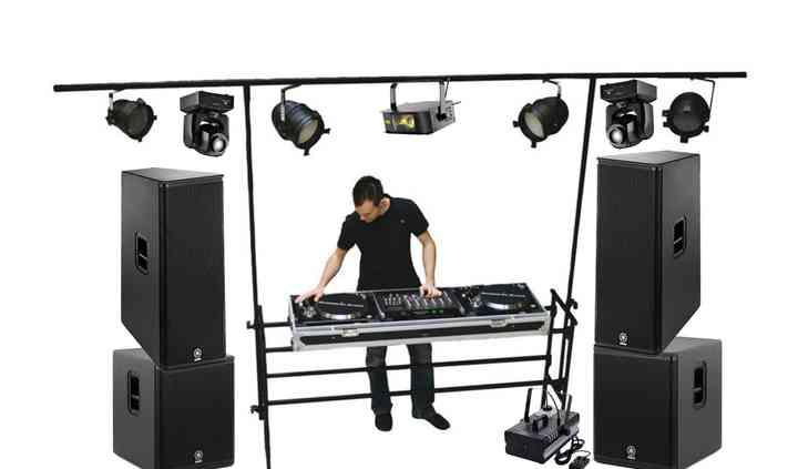 Stage plan DJ set