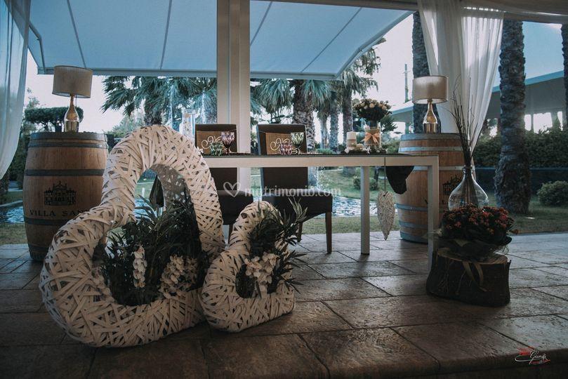 Tavolo sposi sala gazebo