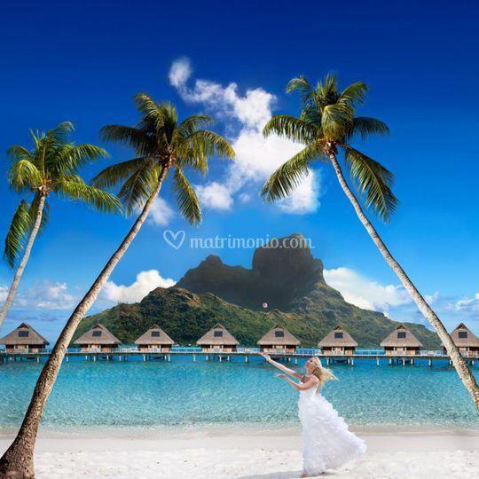 Sposa in polinesia