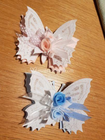 Farfalla a clip