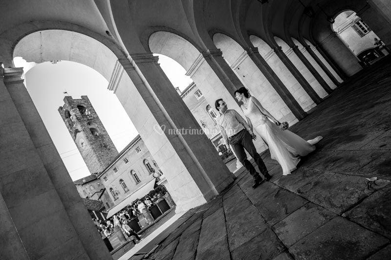 Walking through the arches
