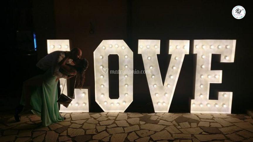 Lettere love giganti