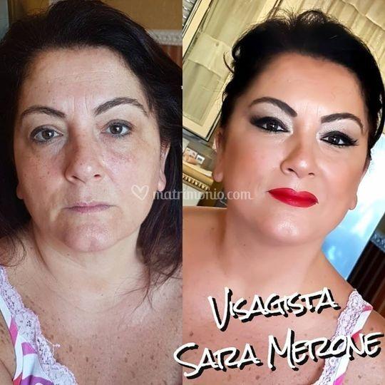 Make-up prima e dopo