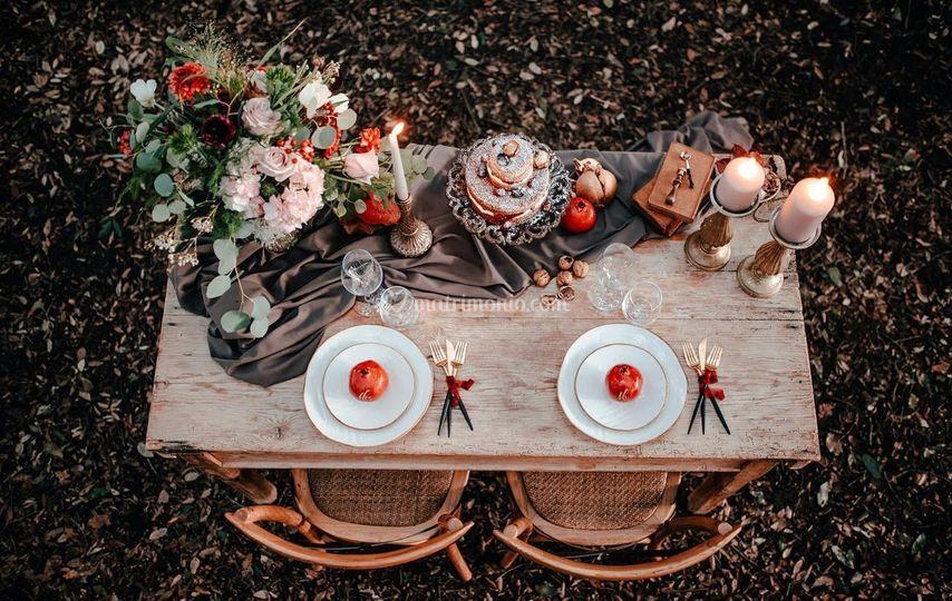 Matrimonio tavolo sposi