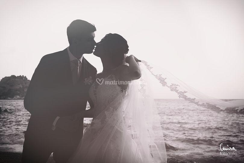 Gli sposi e l'Isola Bella