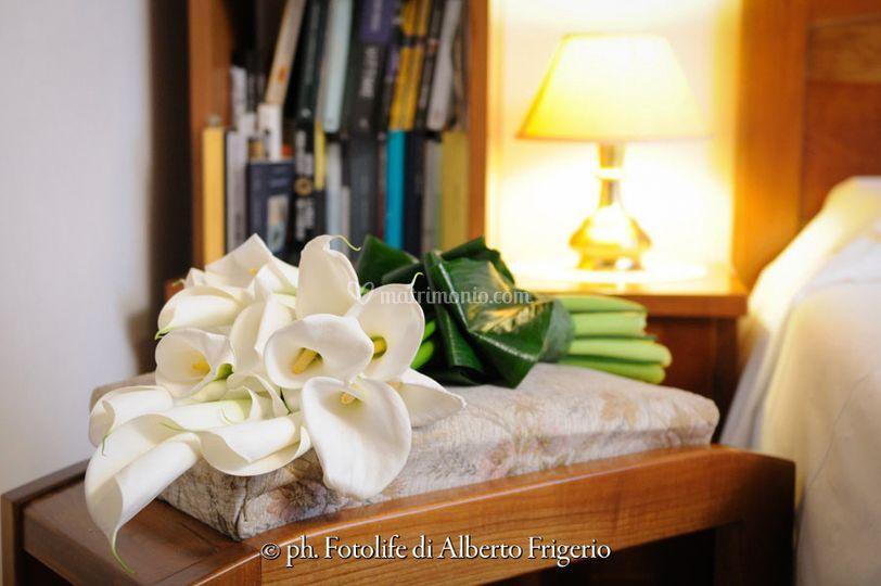 Bouquet wedding day como