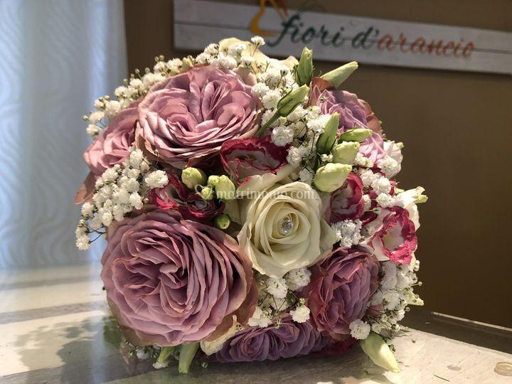 Bouquet rose e lisiantus