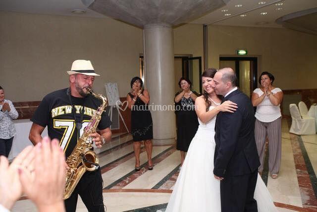 Live itinerante sax con sposi