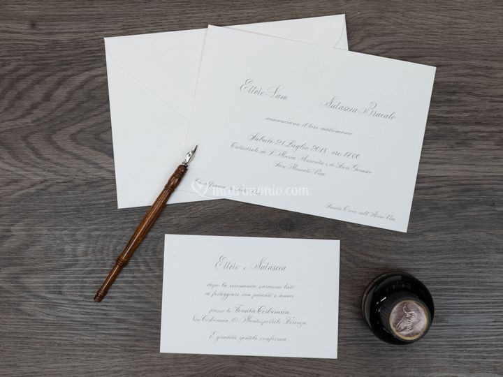 Partecipazione calligrafica