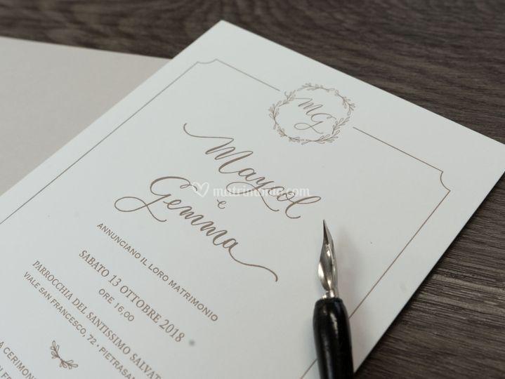 Partecipazione in letterpress