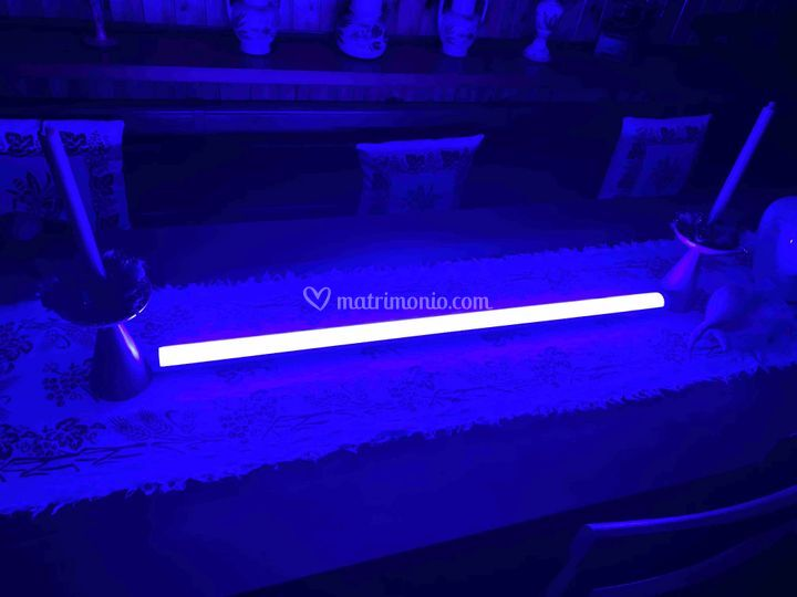 Barra Led Blu centro tavola
