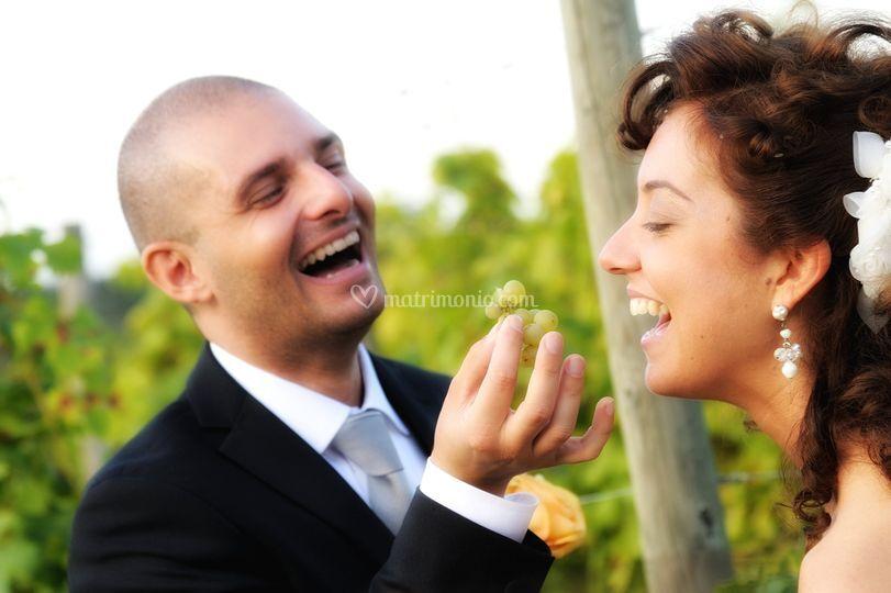 Gli sposi si divertono