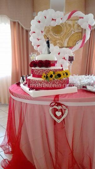 Tavolo tondo Torta Rosso