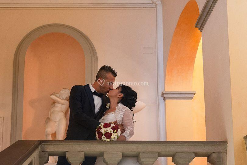 Il bacio dopo le nozze
