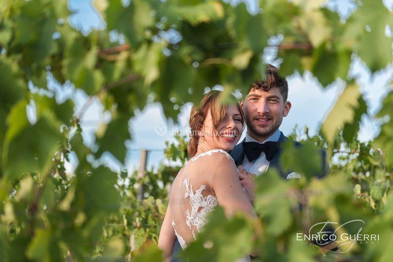 Sposi in mezzo alla vigna