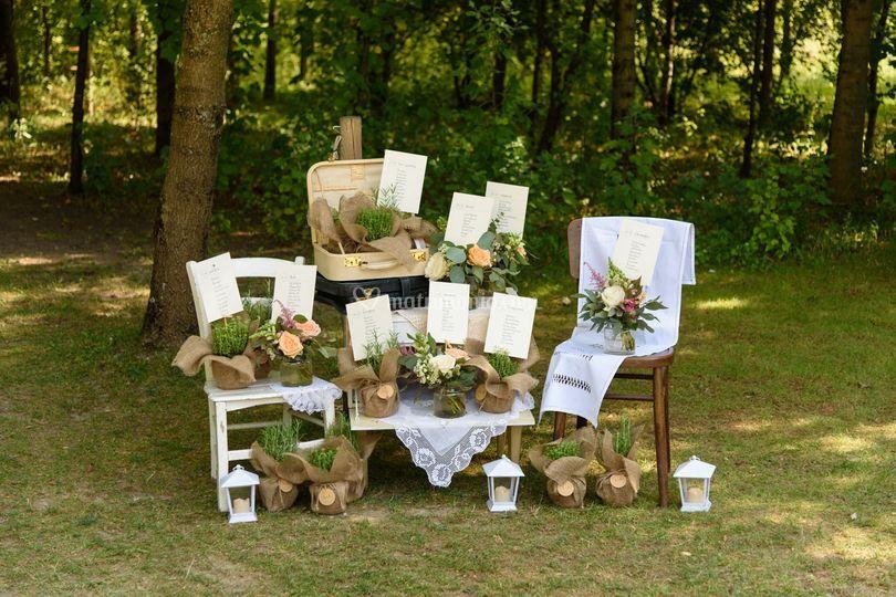 Matrimonio Country Chic Tavoli : Luminal park