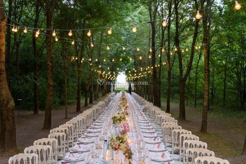 Allestimento tavoli matrimonio