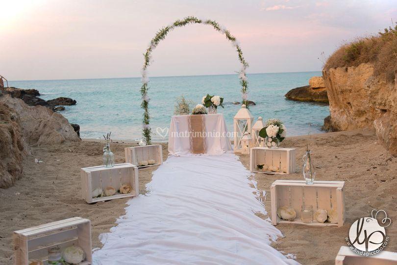 Matrimonio Simbolico In Spiaggia : Rito simbolico in spiaggia di ellepi wedding events