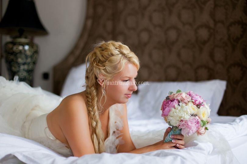 Guardando il bouquet