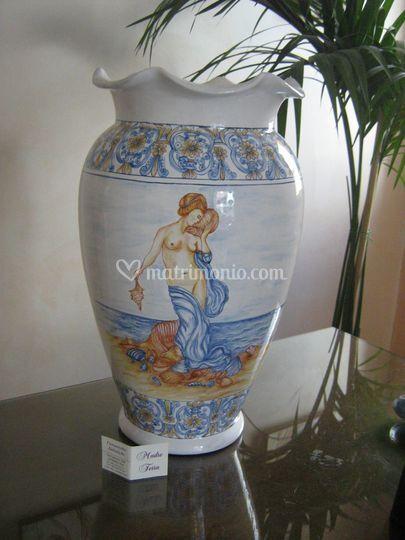 Ceramiche d 39 arte madre terra - Portaombrelli rettangolare ...