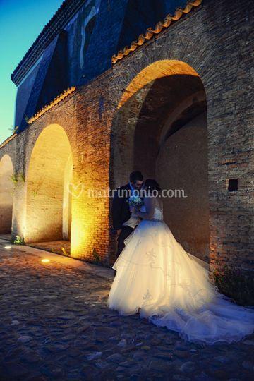 Romaticismo e wedding esterna